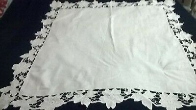 2d90f53e VINTAGE HAND EMBROIDERY Cut Work Rectangle Fabric Doilies Free .