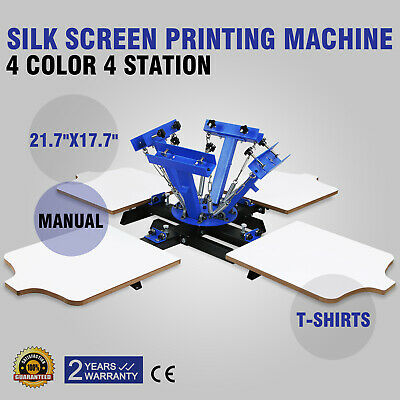 4 Color 4 Station Silk Screen Printing Machine Cutting Manual Printing WELL MADE