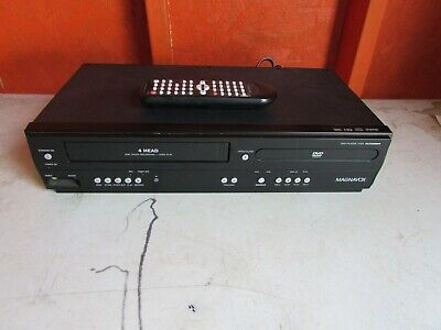 Magnavox DV220MW9 DVD Player VCR VHS Combo w Remote 1 Touch Record Nice Works
