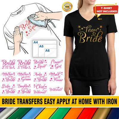 Hen Do Party Team Bride To Be Tribe Squad Iron-on T-Shirt Hoodie Vinyl Transfers