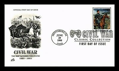 Dr Jim Stamps Us Civil War Winfield Hancock First Day Cover Gettysburg