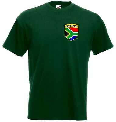South Africa African Cricket Supporters T-Shirt - Sizes: Small to 4XL