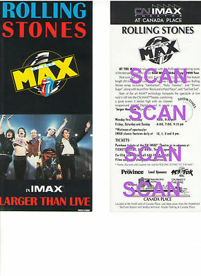 Rolling Stones Cn Imax Canada Place Vancouver British Columbia 10 Ad Flyer 1990