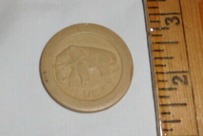 vintage Lucky elephant Poker Chip Casino,clay