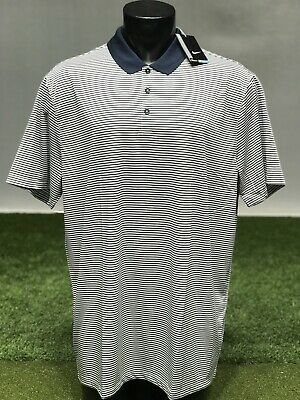 1f9a412a Nike Men's Dri-Fit Victory Stripe Polo Golf Shirt 725520 Navy/White XXL (