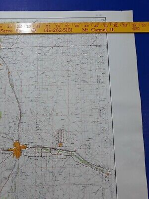 Pueblo Colorado Springs 1958 Original Vtg Geological Survey Topo Quadrangle Map