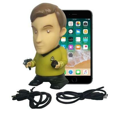 "Star Trek Captain Kirk 6"" Tall Vinyl Talking Bluetooth Speaker"