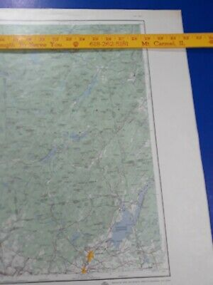 Utica New York 1957 Original Vtg Army Map Road Topo Quadrangle Map