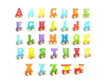 Baby Christening Gifts Wooden Colour train letters for Personalised name train