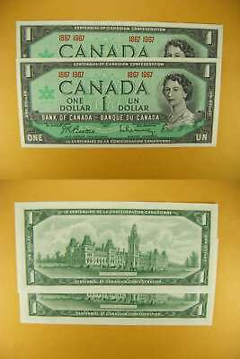 8966 Canada Lot of 2 1867-1967 $1 GemUNC