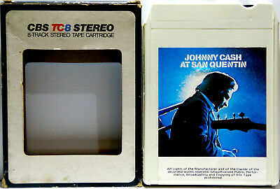 JOHNNY CASH At San Quentin  8 TRACK CARTRIDGE
