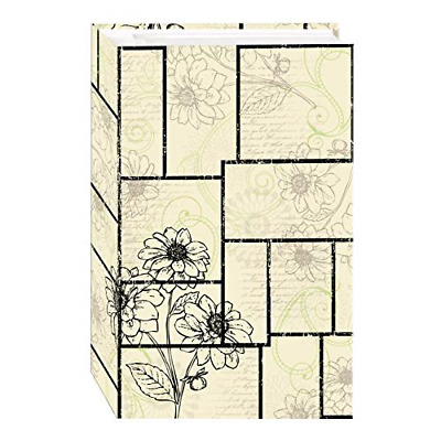 3 Ring Floral Pane Photo Album Archival 500 Clear Pocket Hold 4 Lignin & PVC ...