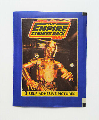 L'EMPIRE CONTRE-ATTAQUE stickers vignettes STAR WARS vintage paquet AGE PANINI