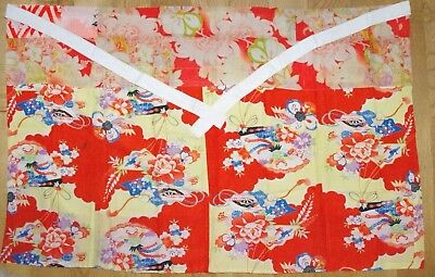 ' Maekake' JAPANESE APRON, Handmade Mingei / Folk Art, Used Patchwork, Kitchen