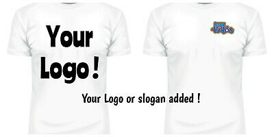 Your Business Name Or Logo Printed On Custom Made Brand New T Shirt white