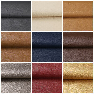 "1/3/5 Yards Solid Faux Leather Fabric Upholstery Pleather Marine Vinyl  54"" Wide"