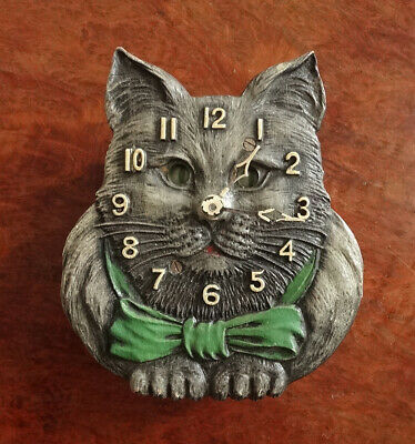 30s LUX Novelty Animated CAT Wall Clock-Pendulette