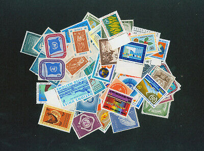 United Nations Lot of 60 early (1951-1960) asorted, mint, NH stamps [S261A]