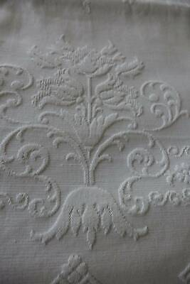 Edwardian UNUSED white cotton embossed or woven quilted Marcella bedspread