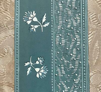 BEAUTIFUL 19th CENTURY ANTIQUE HAND PAINTED FRENCH SILK CHINÉ DESIGN CARTOON 4.