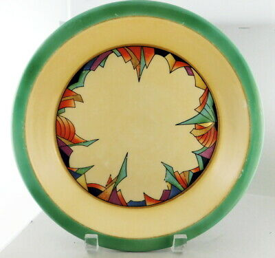 Art Deco Royal Rochester Modernistic Pie Plate Fraufelter Ohio China