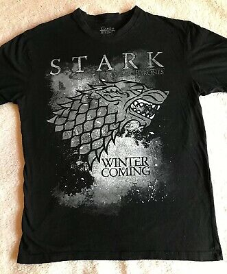 Game Of Thrones Winter Is Coming T-Shirt - Adult L, EUC