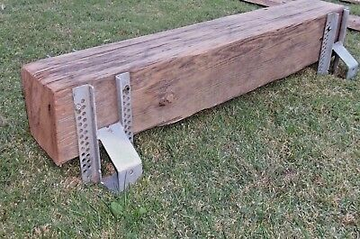 Rustic Reclaimed Wood Barn Beam Industrial Urban Chic Console Table Metal Base