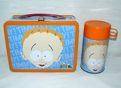2001 South Park Timmy Metal Standard Lunchbox Tin & Thermos By Neca Wheel Chair