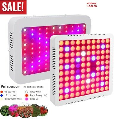 4000W LED Grow Light Full Spectrum Veg Flower Indoor Hydroponic Plant Lamp Panel