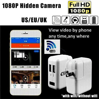 Wireless USB Wall Charger Plug 1080P HD Cam Spycam Camera DVR Motion Detection
