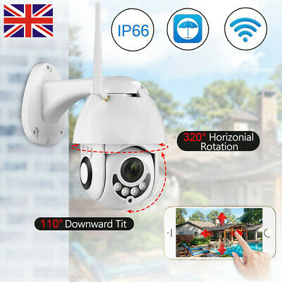 1080P PTZ Mini WIFI Outdoor Dome IP Camera Wireless HD Surveillance Fixed Focus