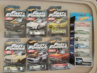 Hot Wheels 2019 FAST & FURIOUS Complete Set of 6 Walmart Exclusives + 5pack