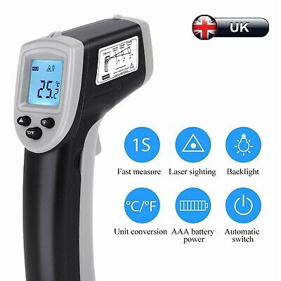 Handheld Digital LCD Temperature Thermometer Laser Non-Contact IR Infrared Gun C