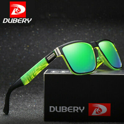 DUBERY Polarized Men Sunglasses Square Cycling Sport Driving Sun Glasses UV400