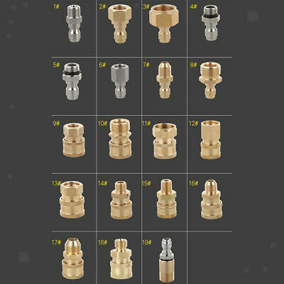 19 Types Pressure Washer Quick Connector Easy Connect Fitting Accessories