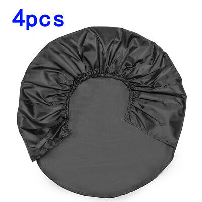 4pcs Car Wheel Tire Tyre Cover Bag For Truck Trailer RV Camper Protector
