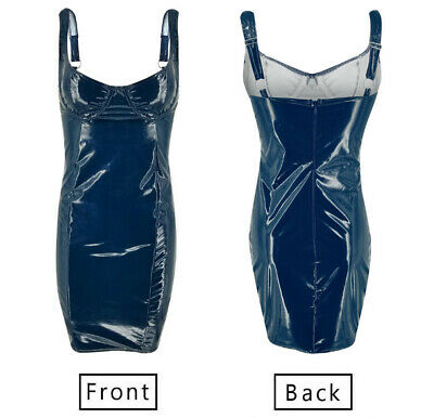 Dress Dresses Lingerie Pu Leather Faux Leather Slim Fit Sexy Ladies Wet Look