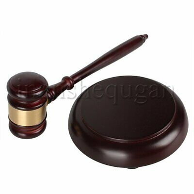 Wooden Gavel Handcrafted Auction Hammer for Auctioneer Lawyer Judge