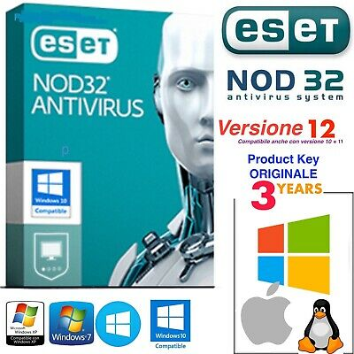 🔥 ESET NOD32 Antivirus 2019 • License Up to 2022 - 5 PC • Product Key 3 Years