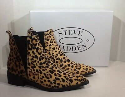01ed08adfde BRAND NEW IN Box Steve Madden Jerry Leopard Woman Ankle Booties Size ...