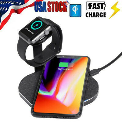 Qi Wireless Charging Stand For iPhone XS/XS MAX/XR Dock Holder For Apple Watch