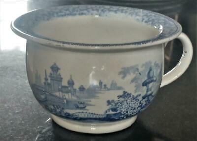 Very Rare Antique Transferware Ladies Small Vomit Pot or Spitoon C 1840+