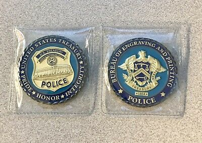 US TREASURY POLICE Bureau of Engraving and Printing Challenge Coin