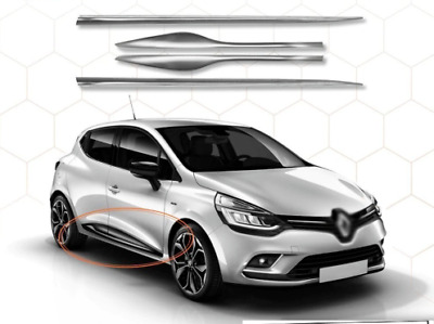 2012Up Renault CLIO IV 4 HB Chrome Side Door Streamer 4Door 4Pcs S.Steel