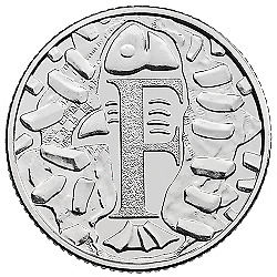 A-Z Alphabet Coin Hunt 10p Letter (F) For Fish & Chips 2019 Uncirculated