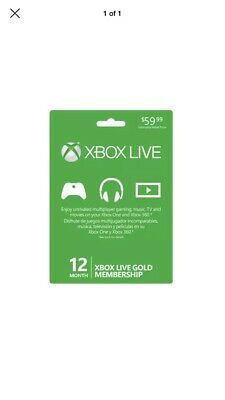 xbox live 12 month gold membership (£25 PM me Before Buying)
