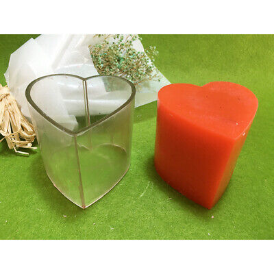 Clear Heart Shape Silicone DIY Handmade Soap Candle Mold Craft Mould Universal