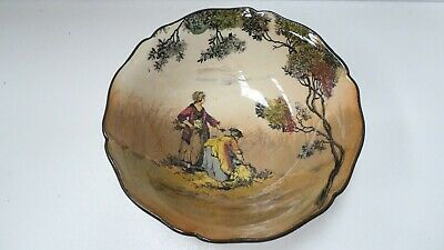 Royal Doulton Old English Scenes  The Gleaners Pottery Bowl