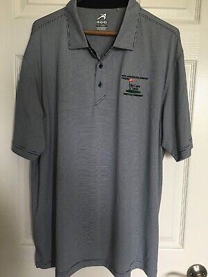 abeab3ccb AHEAD Extreme Golf Polo Shirt Striped Men s Size X-Large Short Sleeve