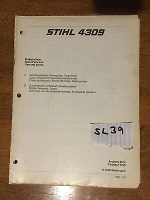 SPARE PARTS LIST Manual For Stihl Chainsaw 056 056Av 35 Pages